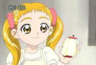 りんごをむく売り出し中の女優さん