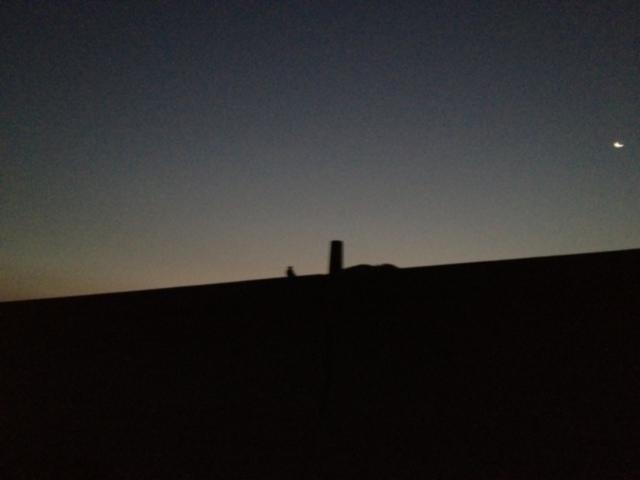 後ヶ浜の夜明け