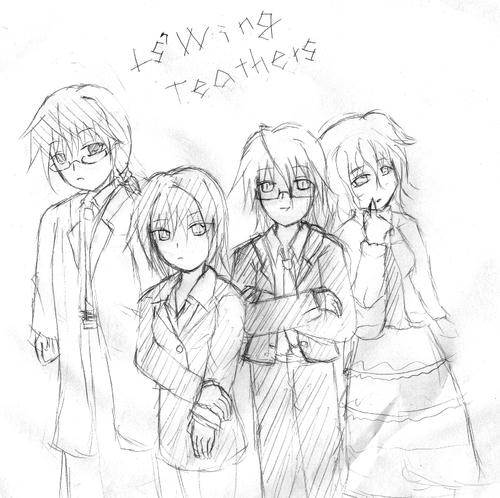 身長は柳さん>茶野先生>シノちゃん>さつきさんの順