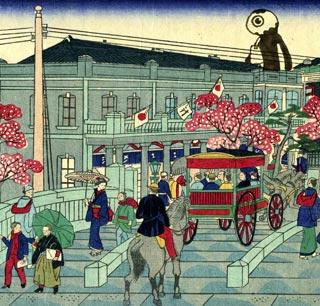 裏銀座の風景(三世広重×氷泉)