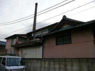 左側面と煙突