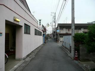 和泉湯前の路地