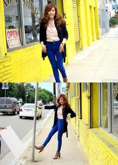 少女時代 ティファニー 鮮やかなブルーを履きこなす