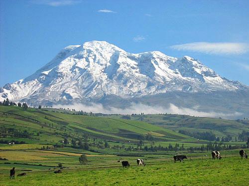 世界一地球の中心点から離れている山