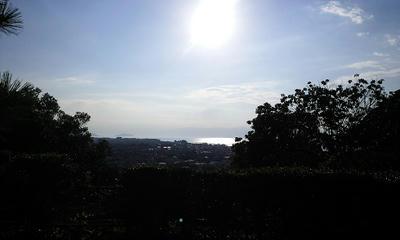 彦根城の外からパチっと琵琶湖
