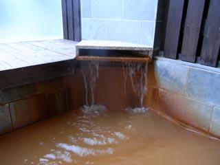 露天の湯口