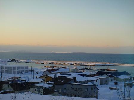 露天風呂からの景色・冬