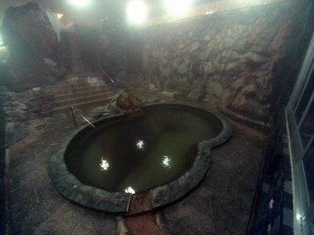 夜の波切の湯