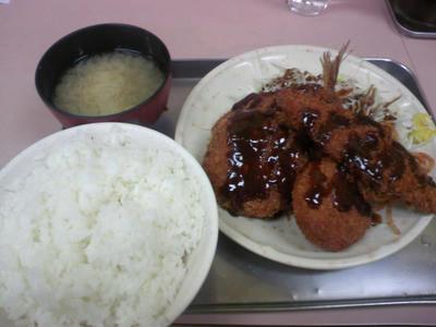 ミックスフライ定食@秋葉屋食堂