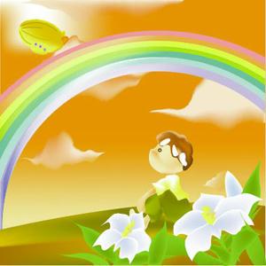 明日の虹の色・・・