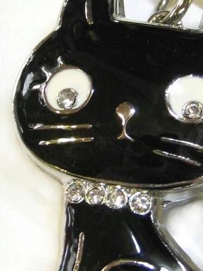 ◆kuma's room◆ 黒猫キーホルダーウォッチ
