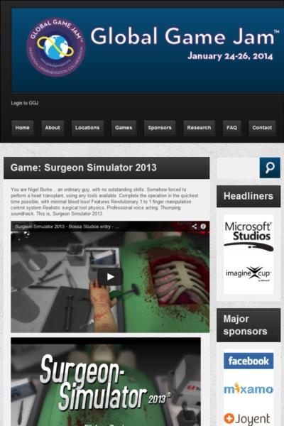 Game: Surgeon Simulator 2013