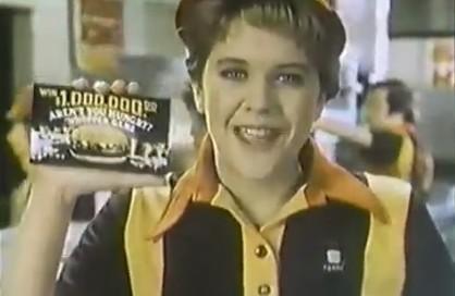 1982年のメグ・ライアンのCM。バーガーキング