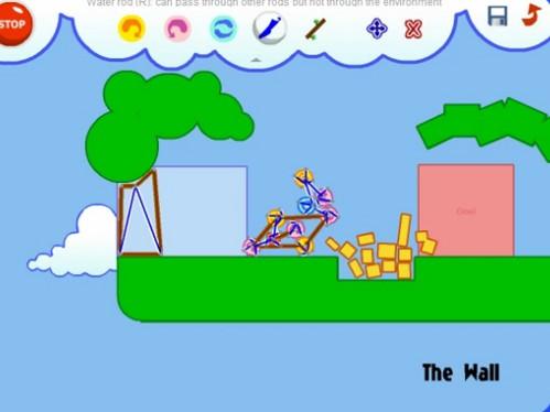 自分で組み立てた工作でゴールを目指すブラウザゲーム「Fantastic Contraption」
