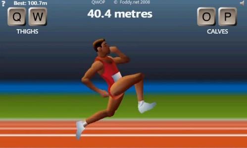 ブラウザゲーム QWOPで100メートルを1分12秒20という新記録