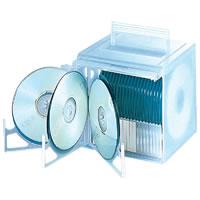 ELECOM WST-CD03CR(クリアー)50枚収納 CD/DVDケース