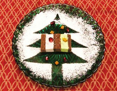 抹茶・小豆のチョコムースケーキ