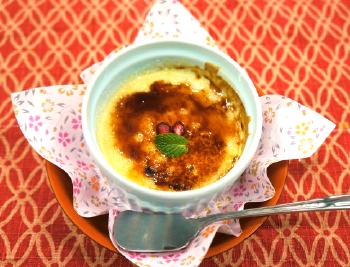 里芋のクリームブリュレ
