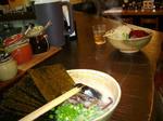 海苔ラーメンとモヤシラーメン