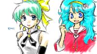エミとペルシャ。