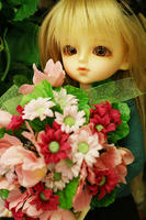 お花持てたよ。