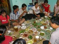 タオさん宅で昼食