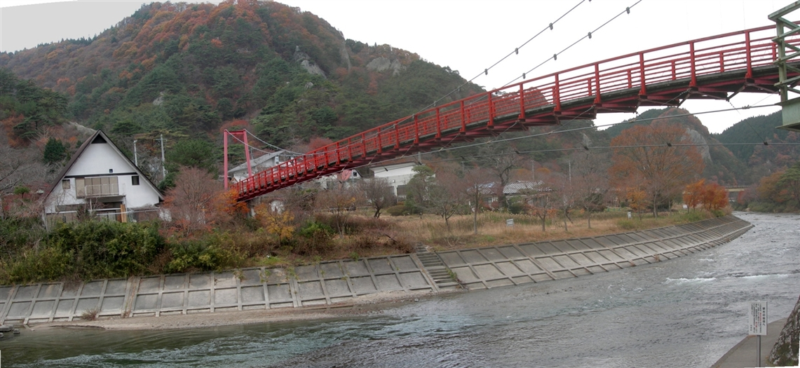 福島盆地から山越えて