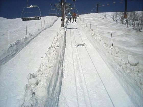 8:47 兎平リフト線下は除雪?してありました