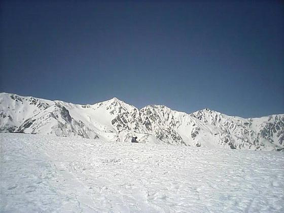12:39 午後の白馬三山 終日晴れるのは珍しい