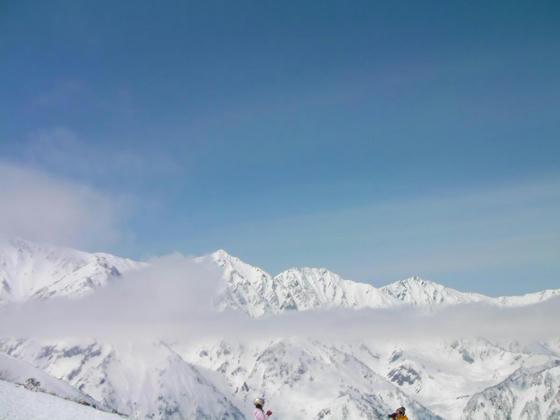 1226 リーゼングラート(最上部)からの白馬三山