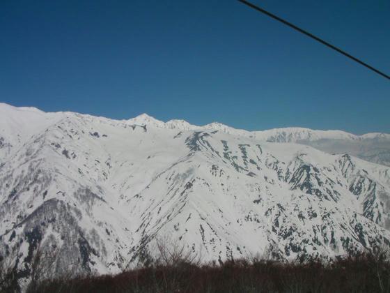 1024 唐松岳の稜線(八方尾根)の向こうに白馬三山