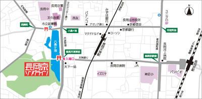 長岡京ソングラインMAP