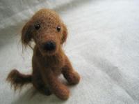 羊毛フェルトの犬,アイリッシュセッター