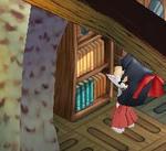 本棚の上を掃除してると思いねぇ