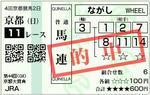 2009年 京都大賞典(GII) 的中馬券1