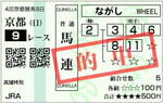 2009年11月01日 京都9レース_的中馬券