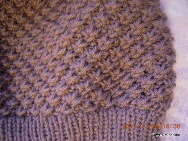 Knit Daisy Stitch Round : ?????Tea time ?Hinagiku Hat????????????????????