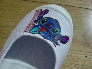 スティッチ手書き上靴2