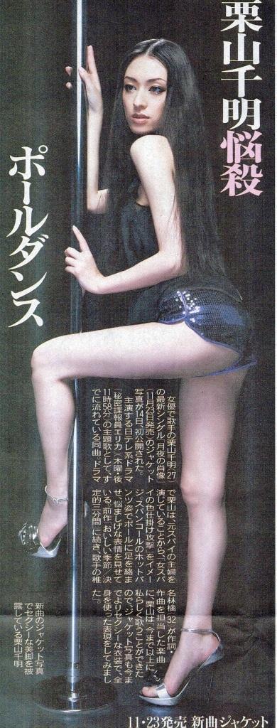 栗山千明さんのインナー姿