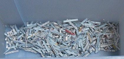 シュレッダー切断ゴミ