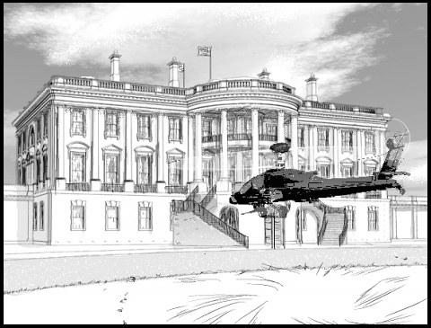 3DLTのホワイトハウスとアパッチ