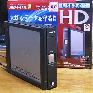 外付けハードディスクHD-HC250U2