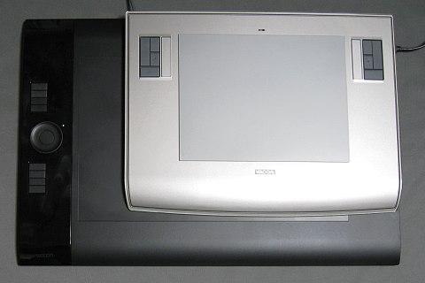 intuos4PTK-840とintuos3PTZ-630の面積差