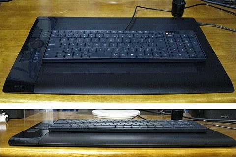 キーボードTK-FCP004をintuos4PTK-840の上で