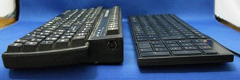 キーボードTK-FCP004とFILCO隼と厚さ比較