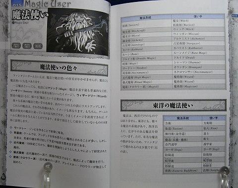 ゲームシナリオのためのファンタジー事典中身01