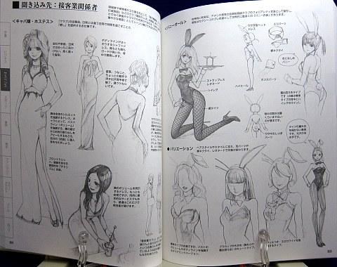 マンガキャラクター図鑑女のコ編中身06