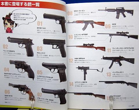 マンガのための拳銃&ライフル戦闘ポーズ集中身03