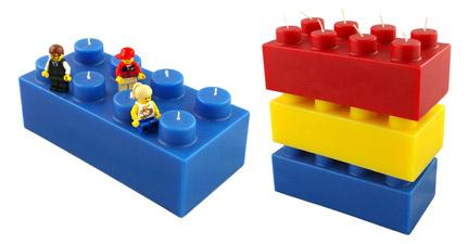 レゴ風キャンドル