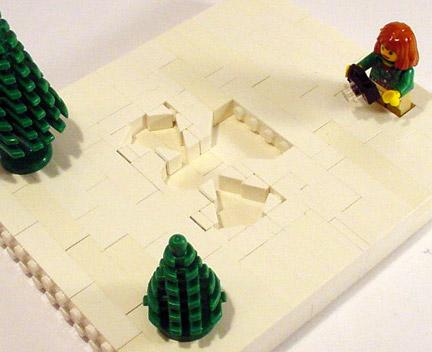 レゴでスノーエンジェル